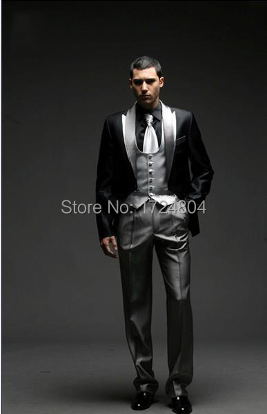 2015 Best Selling Men Complete Designer Bridegroom Wedding Prom Suits/Groom Tuxedos (jacket+pants+vest+Tie) - PiKe Men's suit Stroe store