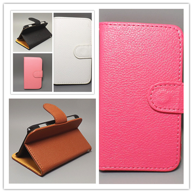 Luxury Litchi leather case cover stand function Lenovo A316 A316i, - akk store