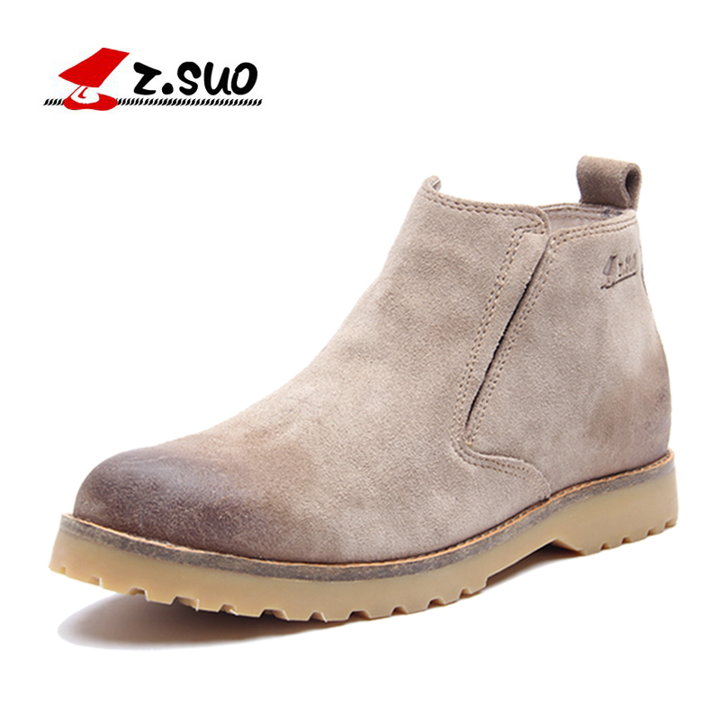 Vintage Mens velvet ankle martin Boots,2015 new handmade autumn & winter leather fashion boots men casual shoes male #zs062 - Redleaf hair products Co., Ltd store