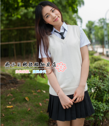Sweater High Neck High Quality Young Girl V-neck