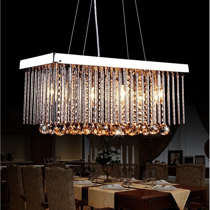 Modern LED Crystal Chandeliers Living Room Dining Room Ceiling Lamp E14 85V 2