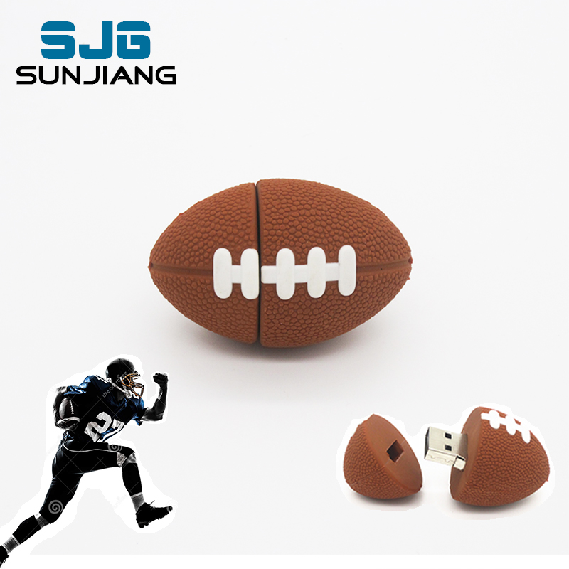 Rugby Pen drive American Football Sports USB Flash Drive U Disk 64G 8G 16G 32G 4G Memory Drive Stick Pendrive Creative boy gift(China (Mainland))