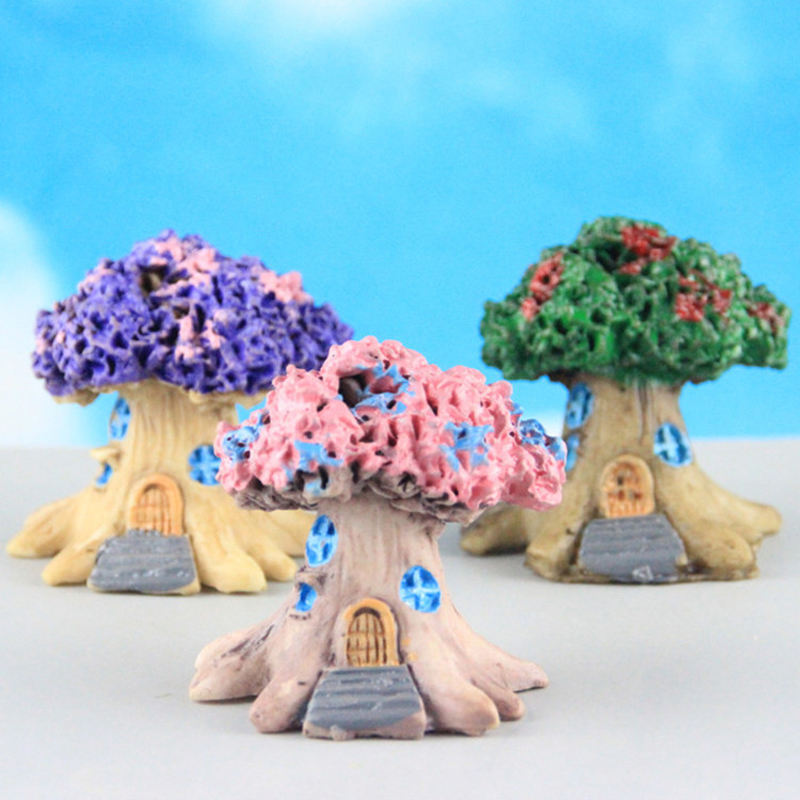 Time-limited Special Offer Micro Landscape Fairy Garden Miniatures Resin Ornaments Decorative Crafts Tree House Top Fashion(China (Mainland))