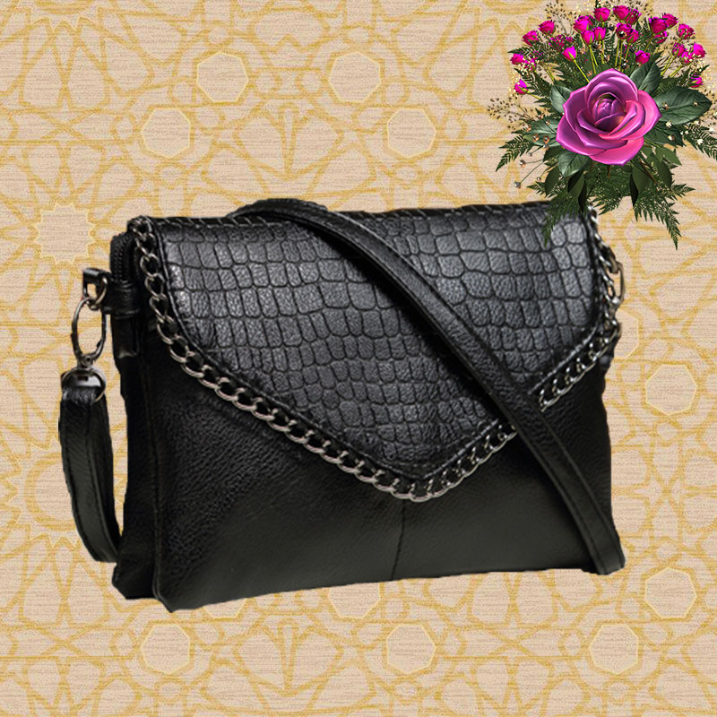valentine bags 2016 stone texture envelope bag small PU leather black color day clutch women's messenger pochette Make Up bag(China (Mainland))