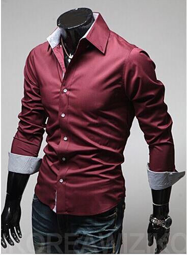 2015 Shirt Slim Fit Floral Camisas Militares Plus Size Checked Shirt Camisa Manga Longa Masculina 2014 Floral Casual For Men(China (Mainland))