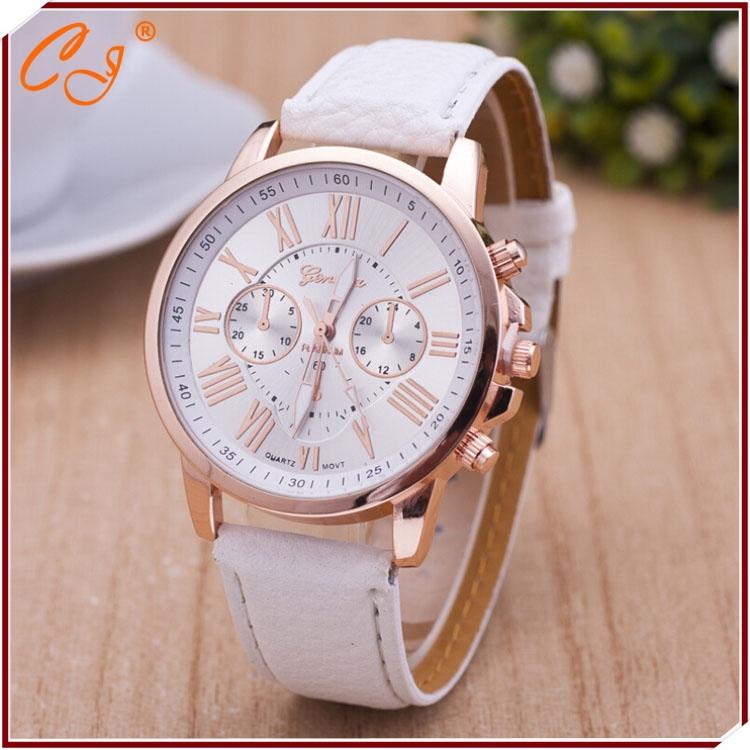 Geneva, new Belt Roman literally Ms false eye male spot wholesale watches(China (Mainland))