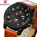 Naviforce Men Sports Watches Men Wristwatches Leather Quartz WristWatch Clock Brand Luxury Military Watch Men s