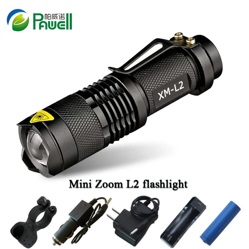 Zoom mini cree xml l2 Led Flashlight Led Torch 5 mode 3800 Lumens waterproof 18650 Rechargeable
