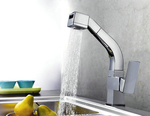 Contemporary Solid Brass Pull Out Kitchen Faucet KF016 bathroom faucets price<br><br>Aliexpress