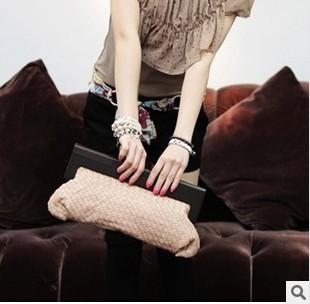 2013 sale new brand women's fashion weaved small bag female day clutch  evening bags