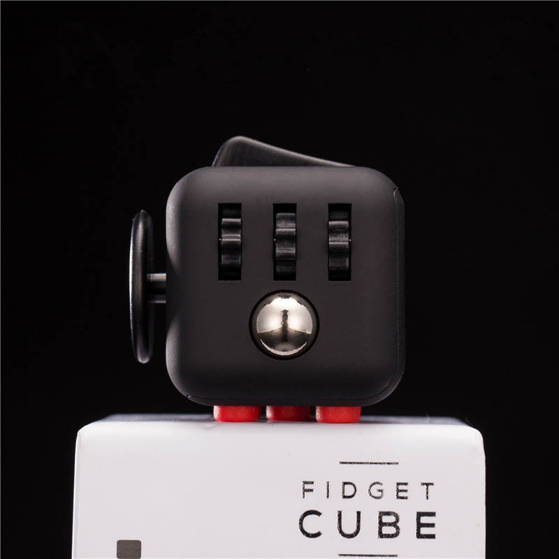 Hot Fidget Cube Toys Squeeze Fun Stress Reliever Fidget Toys Puzzle Magic Cube Toys Stress Cube Come With Box(China (Mainland))