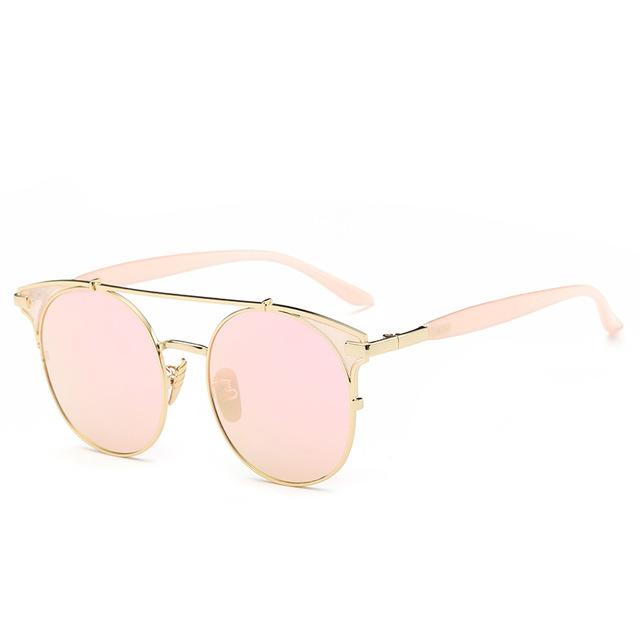 Мода Ретро Cat Eye Солнцезащитные Очки Мужчины Женщины Дизайнер Очки Металлический Каркас UV400 Очки óculos де золь lunette de soleil DF9075