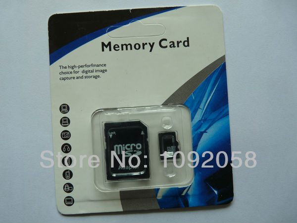 Brand New Discount 8G class 6 Micro SD Card TF Memory Card MicroSD SDHC Card With SD Adapter Free Shipping(China (Mainland))