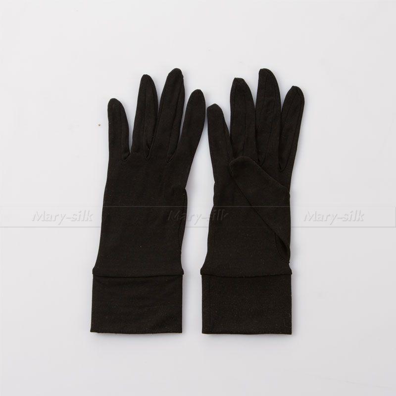 Mens 100% Silk Glove Sport Gloves Liners/Thermals/Inners - Mens Skiing/ Motorbike/ Winter/Running Gloves(China (Mainland))