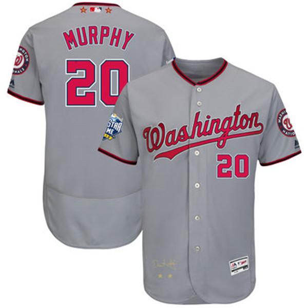 2016 MLB All-Star Signature Flex Base Jersey Washington Nationals Daniel Murphy Baseball Jerseys(China (Mainland))