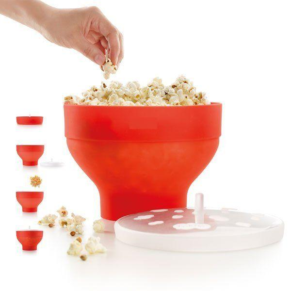 Microwaveable Popcorn Maker Pop Corn Bowl With Lid Microwave Safe New(China (Mainland))