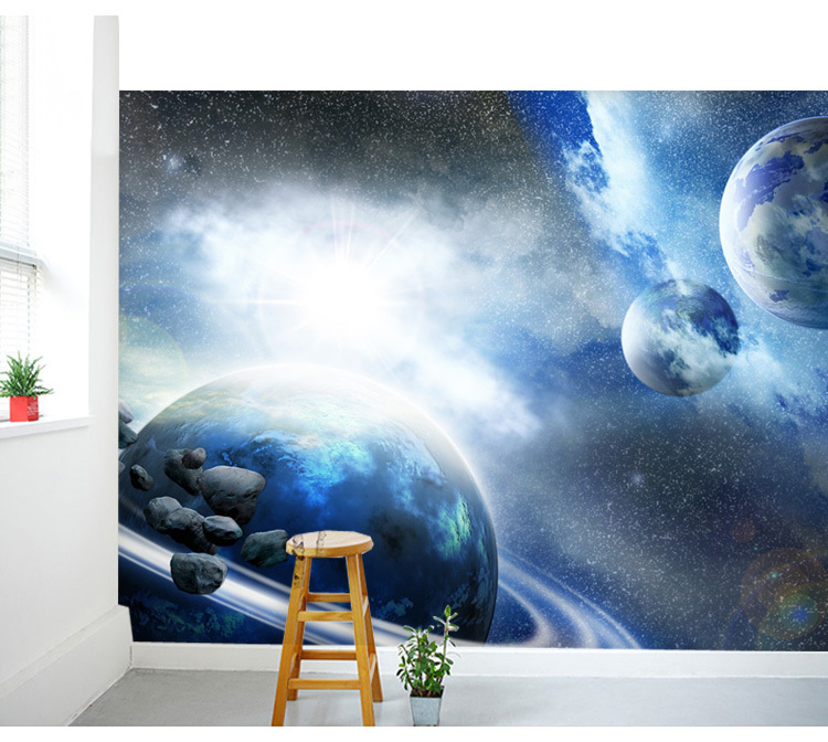 Free shipping large space nebula star personalized 3d for Ceiling mural in a smoker s lounge