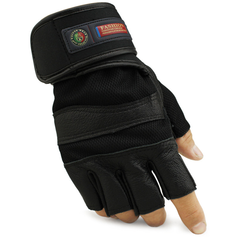 Gym Body Building Training Weight lifting Fitness Gloves Sports Workout Exercise non-slip Biker Bicycle Long Wrist Wrap Mittens(China (Mainland))