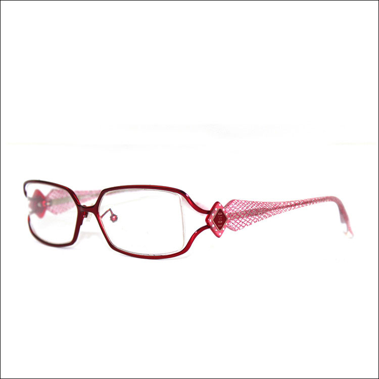 elegant women cutout decorative pattern glasses wine red fashion metal full frame eyeglasses frame reading glasses purple