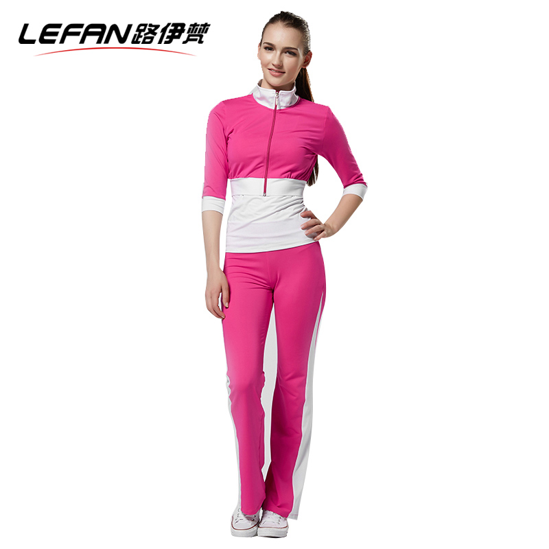 Lefan 2016 Spring Summer Yoga Sports Suits Women Three Quarter Sleeve Fitness Exercise Women Tracksuits Plus Size Yoga Clothing<br><br>Aliexpress