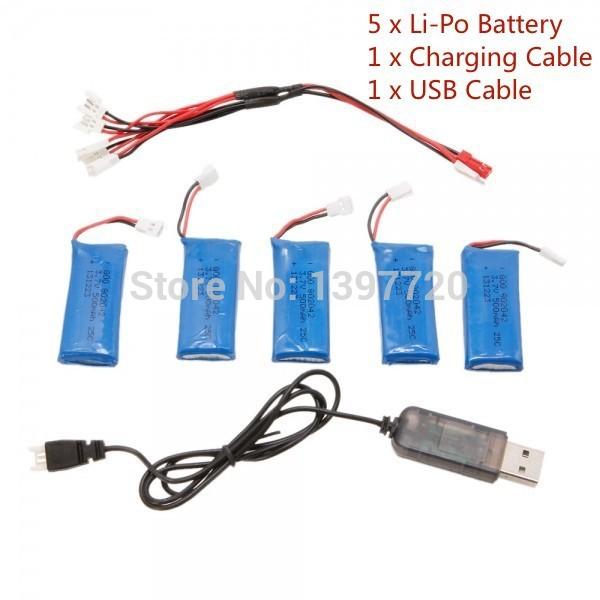 5 x 240 300 380 500mAh Quadcopter Li-Po Battery Hubsan H107 H107L H107C H107D U816 U816A V202 V939 V252 H107C-005 parts - 1000 Store store