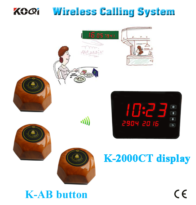 433mhz restaurant wireless service calling system show different type of table service(China (Mainland))
