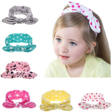 Buy TWDVS Kids Cute Knot Elastic Hair band Newborn Rabbit ears Hair Accessories Cotton Headband Ring Hair Accessories W189 for $1.06 in AliExpress store