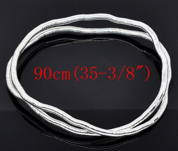 DoreenBeads Silver Plated Bendy Flexible Snake Chain Necklaces 6mm thick 90cm,sold per pack of 2(China (Mainland))