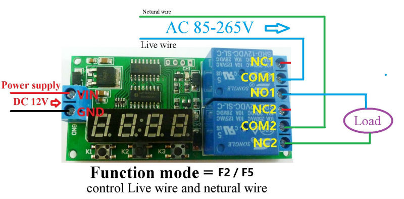 dc 12v 9 function delay relay controller motor reverse cyclic product dc 12v 9 function delay relay controller motor reverse cyclic timers switch led