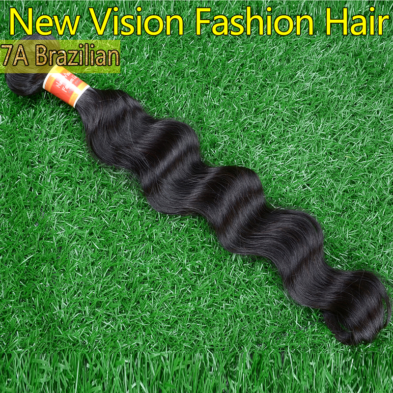 Unprocessed virgin hair 1pc Natural black brazilian loose wave human hair Heathy ends wholesale brazilian loose wave virgin hair(China (Mainland))