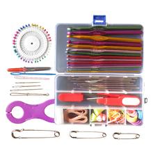 New Multicolour Metal Hook Needle Set Knitting Needle Set Crochet Full Set Needle Crocheted Sweater Tools TB Sale(China (Mainland))