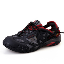 Breathable Shoes Mens&Womens 2016 Summer Leather Walking Shoes Waterproof Outdoor Beach Sandals Water Shoes Sandals