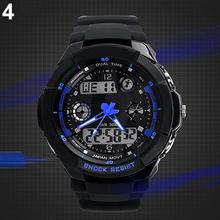 Multi-Function Cool S-Shock Sports LED Analog Digital Waterproof Alarm  wrist Watch  6VQA