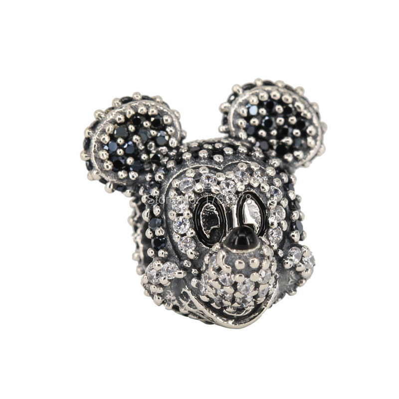 Sparkling Boy Mouse Bead Fits Pandora Charms Bracelet 925 Sterling Silver Charm DIY Jewelry Wholesale(China (Mainland))