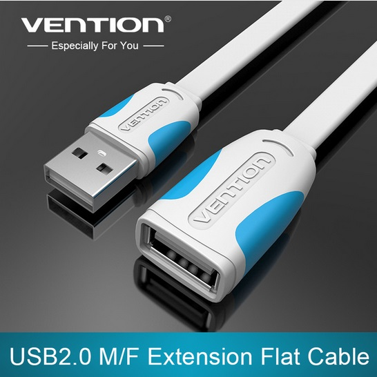 Vention USB 2.0 Male to Female USB Cable Extend 0.5M 1M 1.5M 2M 3M 5M Extension Flat Cable Cord Extender For PC Laptop(China (Mainland))