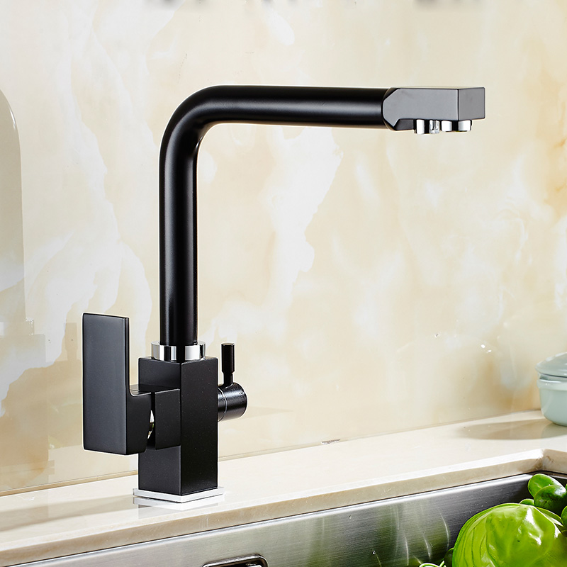 2018 All Solid Brass Black Bronze Kitchen Faucet Dual Handle ...