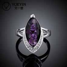 Hot sale popular ruby Jewelry FVRR007 8 high quality Fashion Big Crystal Zircon Ring for women