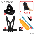 Action Camera Accessories Chest Belt Floaty Tripod Monopod For SJCAM SJ4000 Gopro Hero 5 4 3