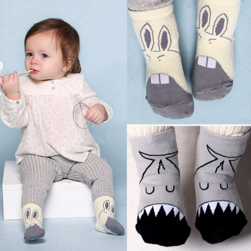 Baby Infant Soft Shoes Newborn Girl Boys Cartoon Cute Crib Walk Shoes Socks For Winter