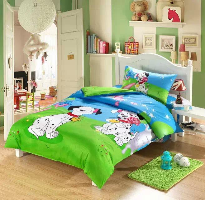 3D Dog print Kids toddler bedding set cartoon twin doona duvet cover quilt single bed spread sheet bedroom children 100 cotton(China (Mainland))