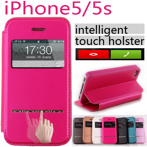 apple iphone 5/5s window series,really PU leather series,mobile phone protective holster,leather bag case cover shell - LH Technology Co.,Ltd store