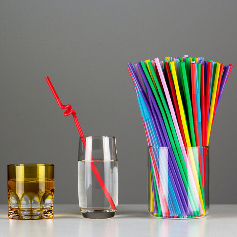 Free Shipping Plastic Drinking Straw 100pcs/Lot Multicolor Wedding Party Straws Event Party Supplies Happy Birthday Decoration(China (Mainland))