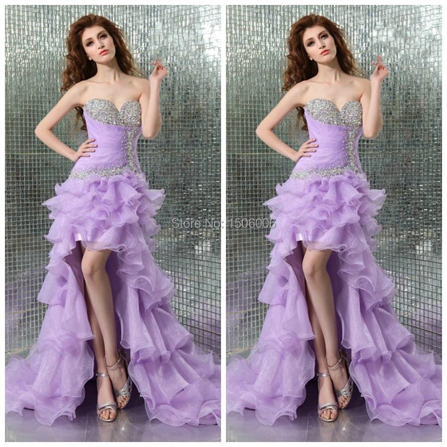 Фиолетовый элегантный длинные длиной до пола асимметричный возвращения на родину платья без рукавов 2016 новое поступление органзы сексуальные платья выпускные AJ159