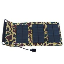 F14658 5.5V 5W Folding Foldable Portable Solar Panel Mobile Phone Charger Kit Solar Camping Mobile MP4 Camera USB Charger + FS(China (Mainland))