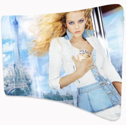 8ft Wave-line Curved Tension Fabric Back-wall Display/ Arch-shape Tension Fabric Wall Exhibition (With Printed Graphic)(China (Mainland))