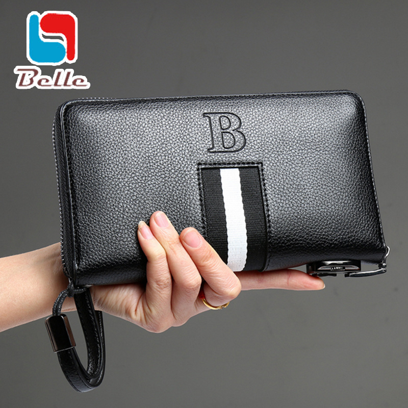 Men purse bag Famous brand designer wallets famous brand men wallet 2016 business clutch bag hansbags dollar price fashion(China (Mainland))