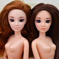 Original Macmillan Germany White Skin Pink Red Hair Cosplay Doll / with 11 Joint Flexible Moveable / For Barbie Doll Girls Gift