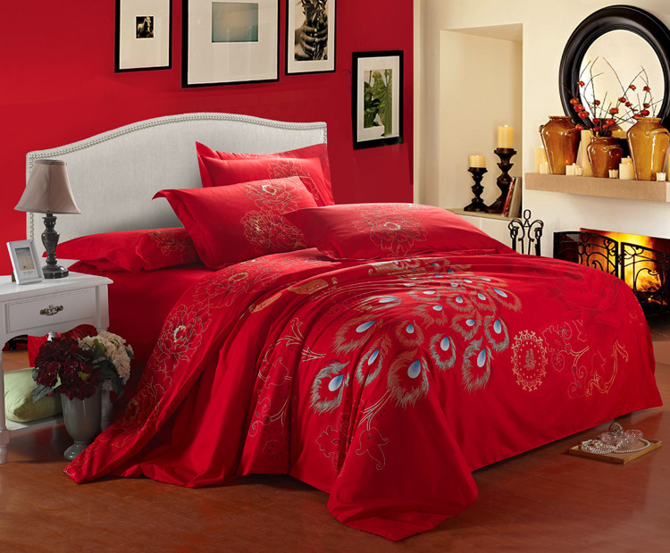 Luxury Bedding Peacock Comforter Set Christmas Bedding Set