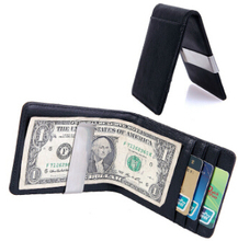 2015 Hot Fashion Metallic PU Leather mens credit card wallet with Single Spring Action Money Clip