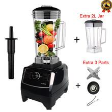 BPA Livre 3HP Heavy Duty Commercial Blender Misturador Processador de Alimentos Liquidificador Smoothie de Gelo Barra de Frutas Elétrico de Alta Potência(China)